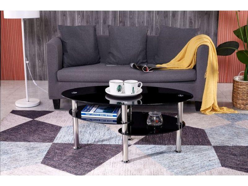 Stolik kawowy ława szklana stoliki szklane salon 110x60 blat górny 8mm zdjęcie 3
