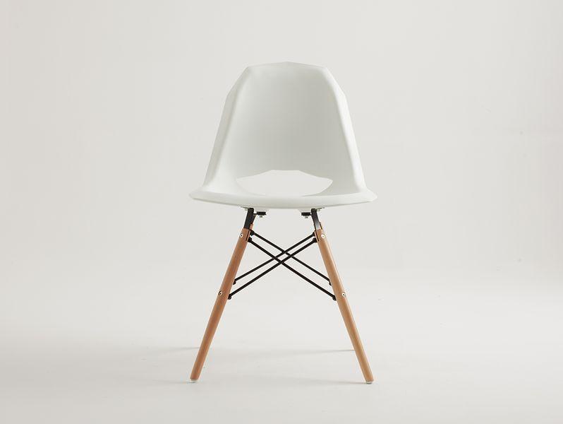 Krzesło MATCH WOOD białe krzesło biurowe jadalnia styl