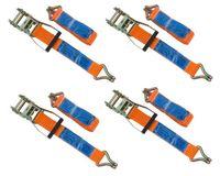 Zestaw: Cztery pasy transportowe z napinaczem 6M/50mm/5T pasy zestaw czterech