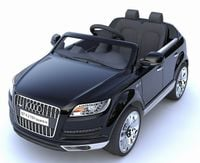 AUDI Q7 dla dzieci na akumulator, dwa silniki 45W - CZARNY stoys
