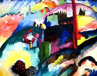 Reprodukcje obrazów Landscape with Factory Chimney - Wassily Kandinsky Rozmiar - 50x40