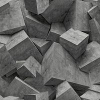 Tapeta Kamień Beton odcienie szarego Efekt 3D L50519 Ugepa