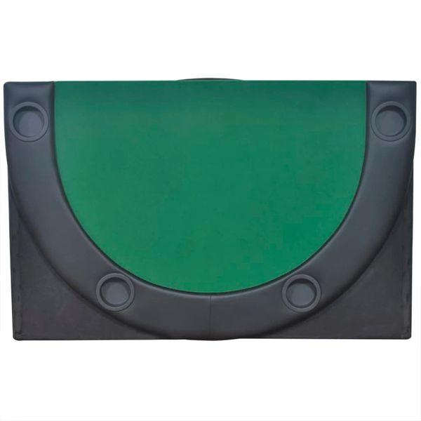 Składany blat do pokera dla 10 graczy, zielony zdjęcie 4