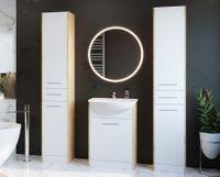 Meble łazienkowe SLIDO MAX Dąb artisan / Biały