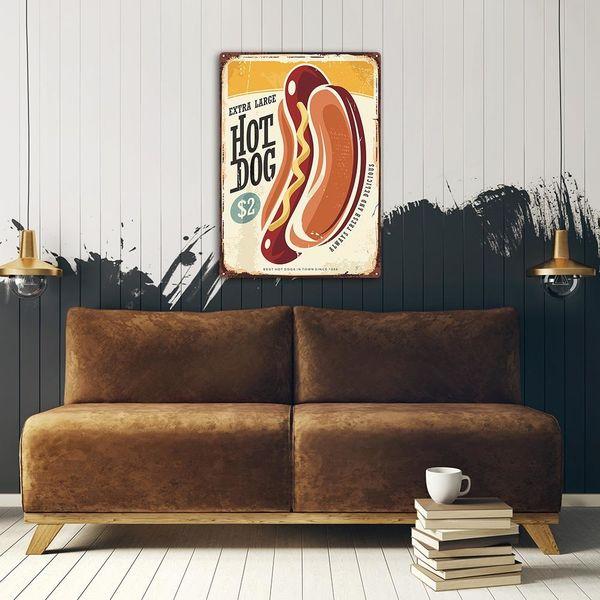 Wydruk na metalu, Retro – Hot Dog 30x40 zdjęcie 3