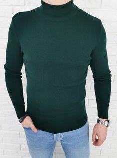 Półgolf sweter zielony męski 3431 - XXL