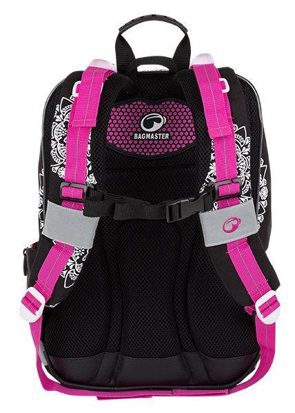 5f269a6b96404 Trzykomorowy plecak szkolny dla dziewczynki Bagmaster, jednorożec zdjęcie 3