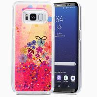 Zizo Liquid Glitter Star Case - Etui Samsung Galaxy S8+ (Spring Flowers)