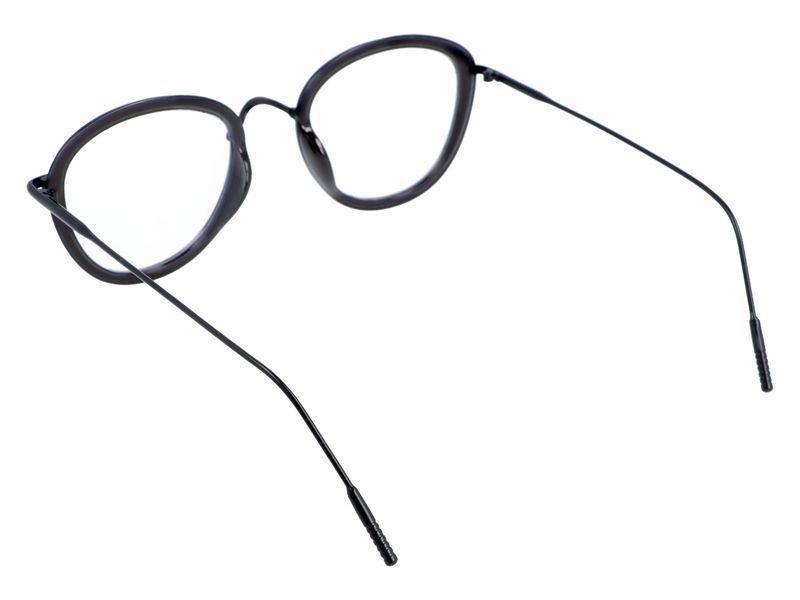 damskie okulary zerówki antyrefleks czarne zdjęcie 3