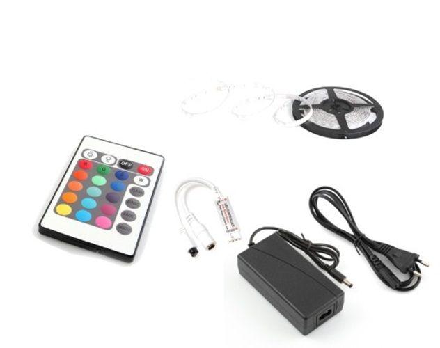 Taśma LED RGB 5050 300 diod pilot zasilacz 5m dekoracyjna sufitowa 72W zdjęcie 1