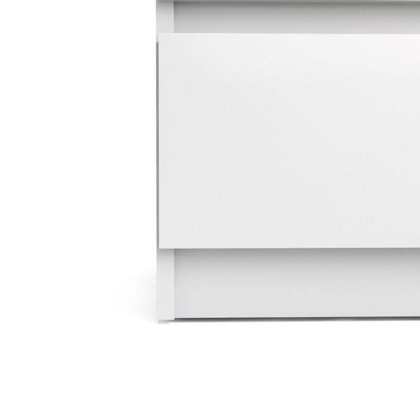 Komoda wąska 5S Naia biała wysoki połysk zdjęcie 7