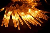 Lampki ogrodowe sople 60 LED, ciepłe białe 6,7 m