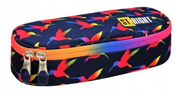 Piórnik Saszetka Usztywniony Rainbow Birds Ptaki