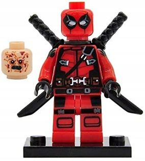MEGA figurka Deadpool 2 głowy +karta lego PL