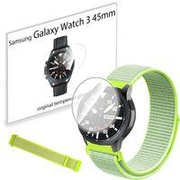 Pasek nylonowy opaska i szkło hartowane do Samsung Galaxy Watch 3 45mm Flash Light