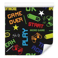 Tapeta młodzieżowa kolorowe napisy piksele gra