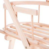 Drewniane sanki z oparciem i pchaczem