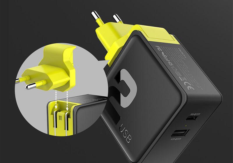 ROCK SZYBKA Ładowarka USB-C + KABEL IPHONE X XR XS na Arena.pl