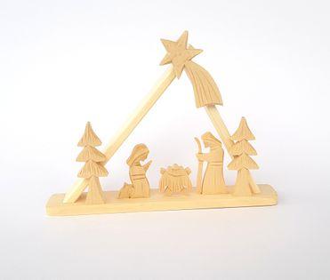 Szopka ludowa drewniana - mała handmade ludowe rękodzieło