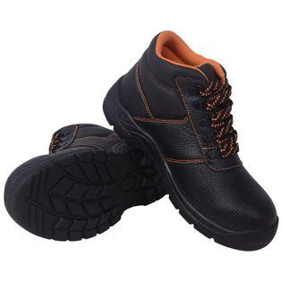 Buty ochronne czarne, rozmiar 46, skórzane