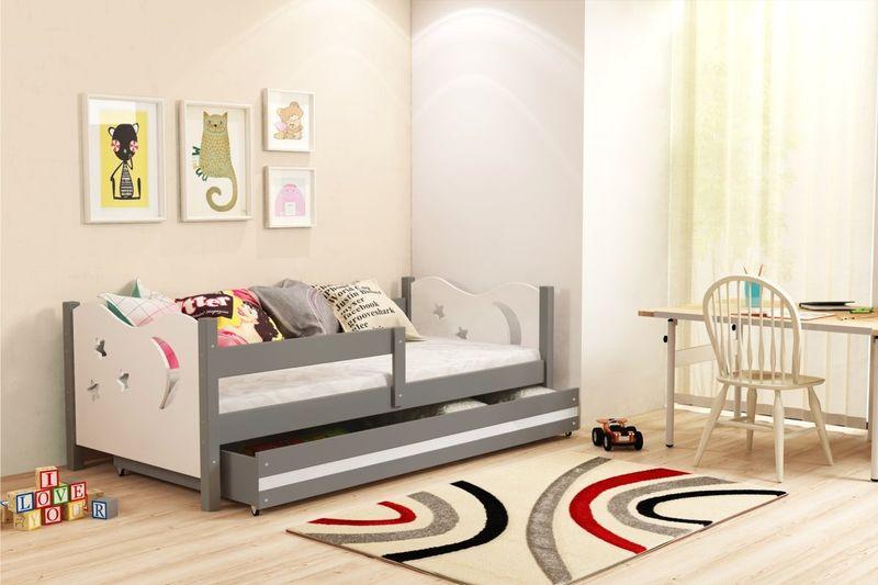 Łóżko łóżka Mikołaj dziecięce 160x80 parterowe + SZUFLADA zdjęcie 9