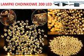 LAMPKI NA CHOINKĘ CHOINKOWE 200 LED BIAŁE CIEPŁE!
