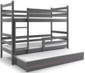 Łóżko piętrowe dwuosobowe dziecięce 200x90 dla dzieci dziecięce STELAŻ