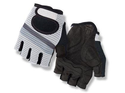 Rękawiczki męskie GIRO SIV krótki palec white titanium stripe roz. XXL (obwód dłoni od 267 mm / dł. dłoni od 211 mm)