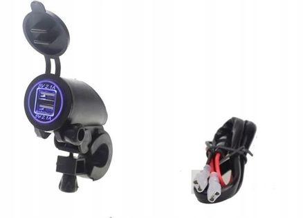 Wodoodporne gniazdo 2 x USB 2 X 2,1A z podświetleniem