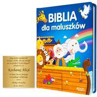 BIBLIA DLA MALUSZKÓW z grawerem PAMIĄTKA CHRZTU