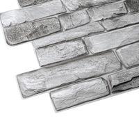 Panele Ścienne 3D PCV Kamień Grey Stone