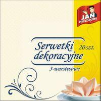 Jan Niezbędny   Serwetki Dekoracyjne - Beżowe (40X40.) - 20 Sztuk
