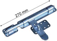 Zasuwa ocynkowana, Zamknięcie bramy, Rygiel 270 mm, szerokość 45 mm