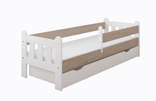 Łóżko STAŚ 140 x 70 z szufladą + barierka ochronna + MATERAC GRATIS na Arena.pl