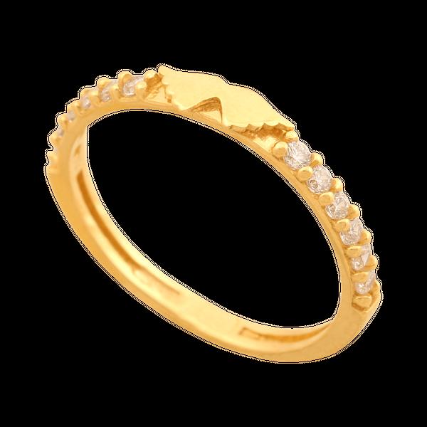 pierścionek rozmiar 10 złoty z cyrkoniami zdjęcie 1