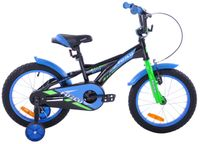 Rower dziecięcy 16 Fuzlu Eco czarno-niebieski
