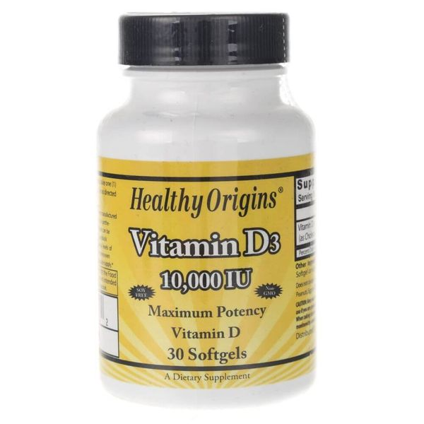 Healthy Origins Witamina D3 10000 IU - 30 kapsułek zdjęcie 1