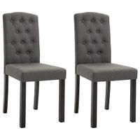 Krzesła do jadalni, 2 szt., ciemnoszare, tapicerowane tkaniną