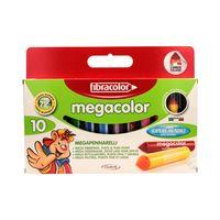 Flamastry pisaki mazaki 10 kolorów Mega Color Fibracolor 950