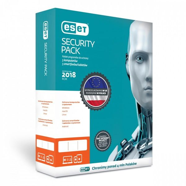 ESET Security Pack Box 3PC+3sm 3Y   ESP-N-3Y-6D na Arena.pl