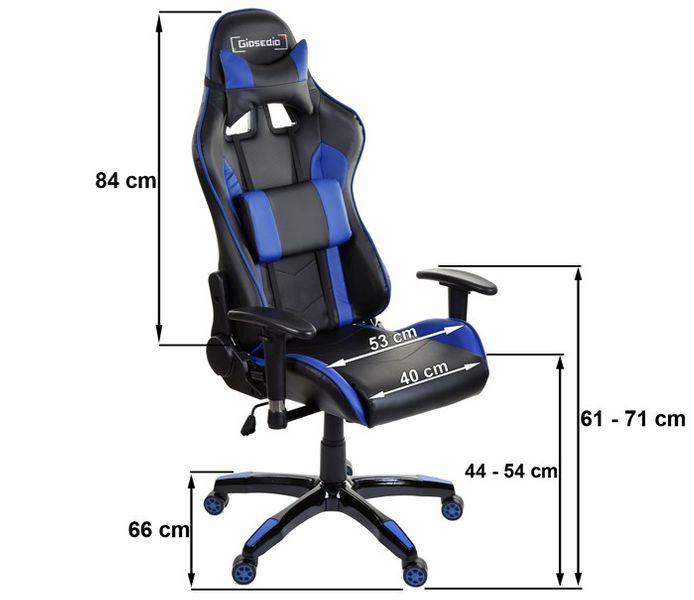 Fotel biurowy GIOSEDIO czarno-biały,model GSA042 zdjęcie 7