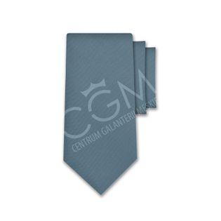Krawat jednolity niebieski - jeans