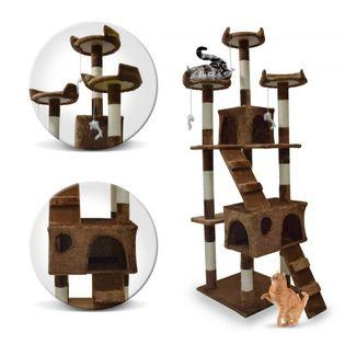 Drapak Dla Kota Kotów Wysoki 170 cm Drzewko Brązowy 1043