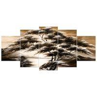 OBRAZ DRUKOWANY  Drzewo snów w brązach 150x70