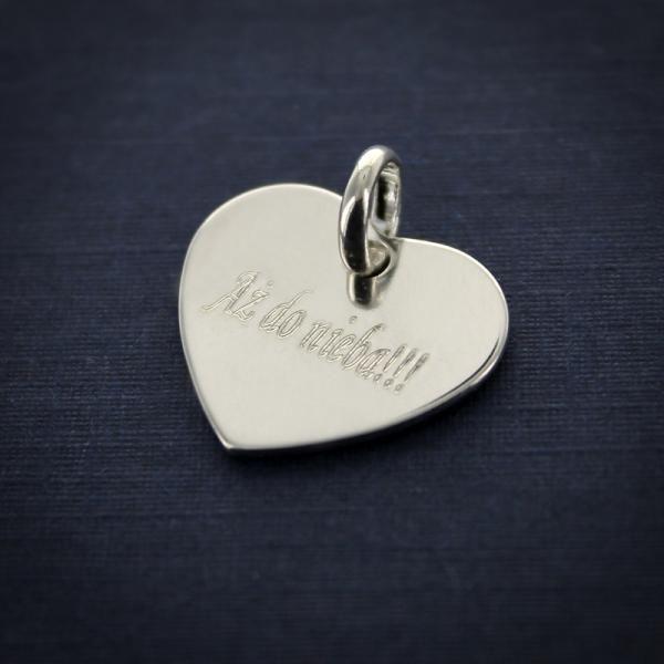Srebrne SERCE bransoletka PREZENT na WALENTYNKI zdjęcie 3