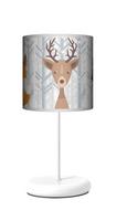 Zimowe zwierzęta Lampa stołowa lampka nocna dla dziecka jeleń szop lis