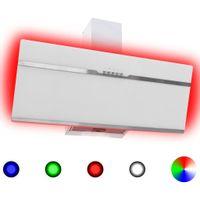 Okap kuchenny LED RGB, 90 cm, stal nierdzewna i hartowane szkło