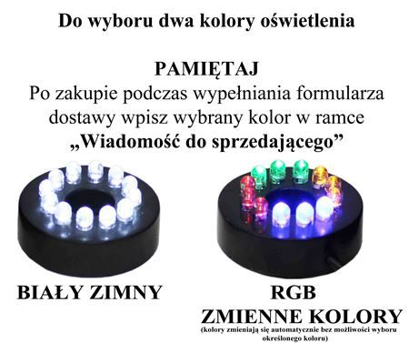 POMPKA Z DYSZA DO FONTANNY ŚWIATŁO 12xLED Hmax=150cm Qmax=800l/h  12W na Arena.pl