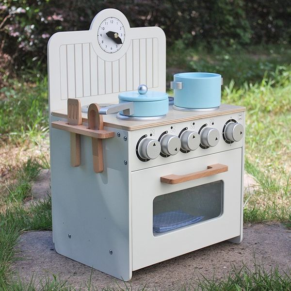 Drewniana Kuchnia Dla Dzieci Mini Zestaw Nowość
