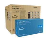 Rękawice nitrylowe nitrylex classic blue M karton 10 op x 100 szt